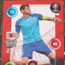 Trading Cards: CARD PANINI ROAD TO EURO 2016 IKER CASILLAS ESPAÑA. Lote 222368423