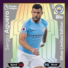 Trading Cards: CARD TOPPS MATCH ATTAX PREMIER LEAGUE SERGIO AGUERO SILVER LIMITED EDITION MANCHESTER CITY. Lote 222369598