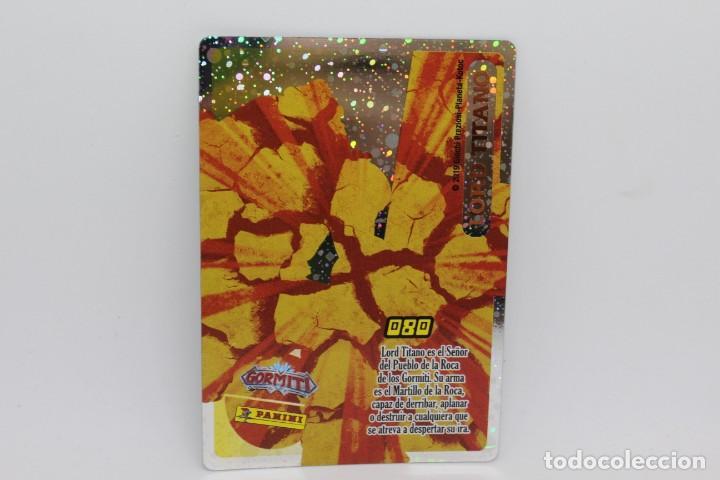 Trading Cards: GORMITI ACTION CARDS DE PANINI - Nº 080 LORD TITANO - Foto 2 - 222375726