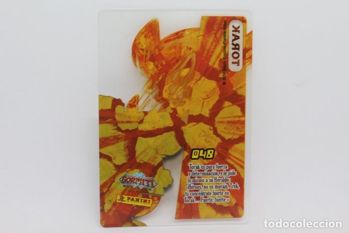 Trading Cards: GORMITI ACTION CARDS DE PANINI - Nº 048 TORAK - Foto 2 - 222377313