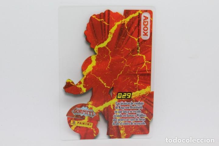 Trading Cards: GORMITI ACTION CARDS DE PANINI - Nº 029 KOGA - Foto 2 - 222377411