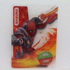 Trading Cards: GORMITI ACTION CARDS DE PANINI - Nº 024 SABURO. Lote 222377740