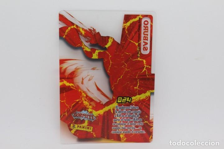 Trading Cards: GORMITI ACTION CARDS DE PANINI - Nº 024 SABURO - Foto 2 - 222377740