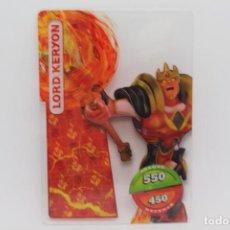 Trading Cards: GORMITI ACTION CARDS DE PANINI - Nº 074 LORD KERYON. Lote 222379833