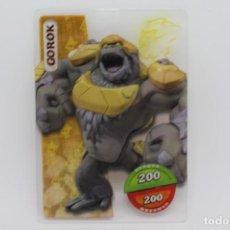 Trading Cards: GORMITI ACTION CARDS DE PANINI - Nº 096 GOROK. Lote 222380258
