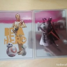 Trading Cards: 2 MOVIE CARDS - EL ASCENSO DE SKYWALKER - STAR WARS - TOPPS (CW-D - DROIDS Y CW-K - KYLO REN). Lote 263087150
