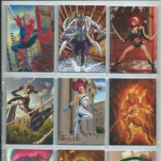 Trading Cards: 2017 FLEER ULTRA SPIDERMAN . SET BASE COMPLETO 100 CARDS. DIFICIL. Lote 222881926