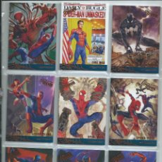 Trading Cards: 2017 FLEER ULTRA SPIDERMAN . SUBSETS COMPLETOS LEGACY Y MILESTONES. 22 CARDS. DIFICIL. Lote 222882648