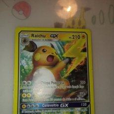 Trading Cards: POKÉMON RAICHU GX. ULTRA RARE. 29/73. Lote 222885651