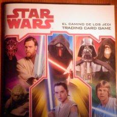 Trading Cards: ALBUM STAR WARS - EL CAMINO DE LOS JEDI, TRADING CARD GAME - COMPLETO A FALTA DE 21, 27,,50 Y 62. Lote 222911751