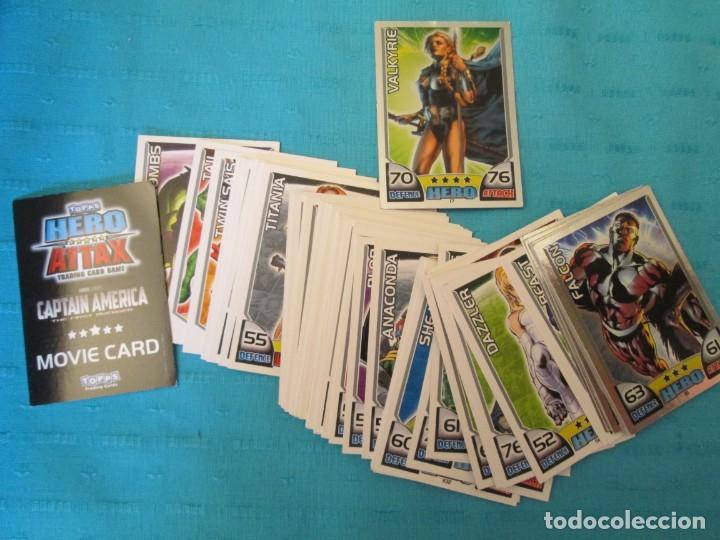 TOPPS HERO ATTAX LOTE (Coleccionismo - Cromos y Álbumes - Trading Cards)