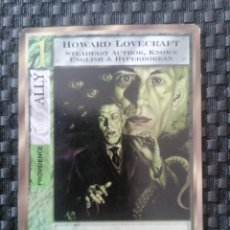 Trading Cards: HOWARD LOVECRAFT. ALLY. CARTA JUEGO MYTHOS. CHAOSIUM INC., 1996. IL. ROGER RAUPP.. Lote 224716907