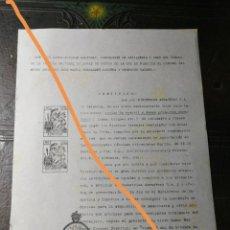 Trading Cards: ANTIGUA CARTA COMERCIAL. CORONEL JOSÉ MARÍA FERNÁNDEZ.FÁBRICA NACIONAL DE ARMAS DE OVIEDO.AÑOS 40.. Lote 225337735
