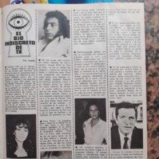 Trading Cards: PATTY PRAVO VICTORIA VERA ADOLFO SUAREZ VALERIO LAZAROV LOLA HERRERA LAS VIUDAS. Lote 234502040