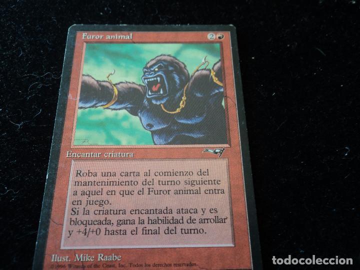 CARTA MAGIC THE GATHERINE DECKMASTER FUROR ANIMAL (Coleccionismo - Cromos y Álbumes - Trading Cards)