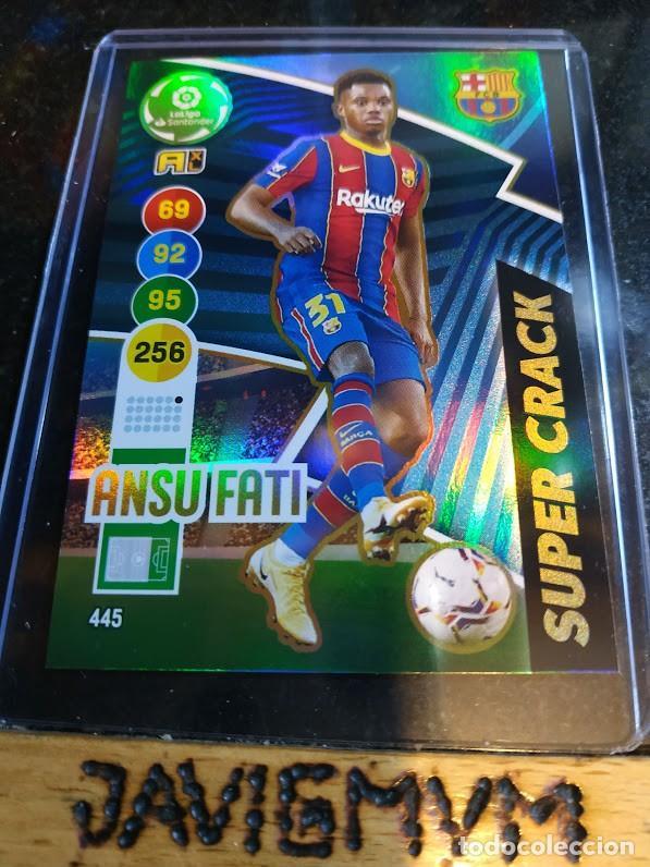 ADRENALYN 2020 2021 20 21 ANSU FATI SUPER CRACK Nº 445 BARCELONA (Coleccionismo - Cromos y Álbumes - Trading Cards)