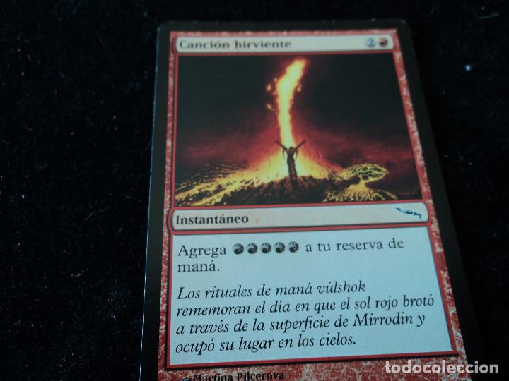 CARTA MAGIC THE GATHERINE DECKMASTER CANCIÓN HIRVIENTE (Coleccionismo - Cromos y Álbumes - Trading Cards)