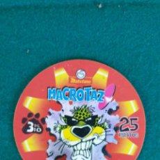 Trading Cards: MACROTAZ TAZO GRANDE CHESTER APACHE 25 PUNTOS PROMOCIONAL MATUTANO. Lote 238474440