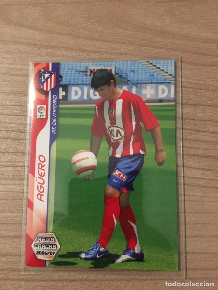 MEGACRACKS 06-07 SERGIO AGÜERO ROOKIE CARD (Coleccionismo - Cromos y Álbumes - Trading Cards)