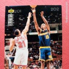 Trading Cards: 198 LATRELL SPREWELL, ALL STAR, NBA BASKETBALL 94 95 BALONCESTO 1994 1995 UPPER DECK. Lote 242854640