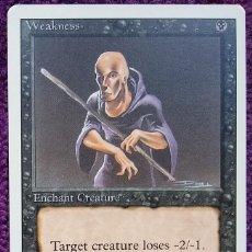 Trading Cards: 1X WEAKNESS - DEBILIDAD - 3RD ED - REVISED EDITION 1994 CARTAS MAGIC MTG. Lote 243840270