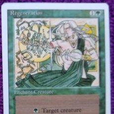 Trading Cards: 1X REGENERATION - REGENERACIÓN - 3RD ED - REVISED EDITION 1994 CARTAS MAGIC MTG. Lote 243930825