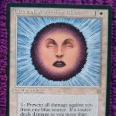 Trading Cards: 1X CIRCLE OF PROTECTION BLUE - CIRCULO DE PROTECCION AZUL - 3RD ED - REVISED 1994 CARTAS MAGIC MTG. Lote 243840255