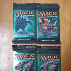 Trading Cards: 4 SOBRES TCG MAGIC THE GATHERING AVANZADO [PRECINTADOS]. Lote 244703325
