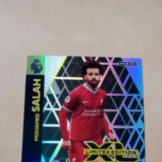 Trading Cards: TRADING CARD CROMO MOHAMED SALAH EDICIÓN LIMITADA ADRENALYN XL PREMIER LEAGUE PANINI 2020 2021. Lote 245592160