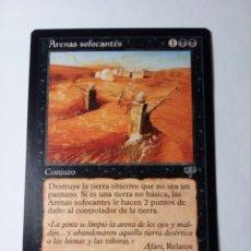 Trading Cards: MTG ARENAS SOFOCANTES / CHOKING SANDS - MIRAGE. Lote 246172990