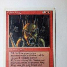 Trading Cards: MTG GOBLIN KING - CUARTA EDICION. Lote 246174990