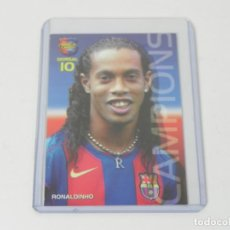 Trading Cards: MEGACRACKS 2004/2005 - BARÇA CAMPIÓ (RONALDINHO) Nº 22 - F.C. BARCELONA - PANINI. Lote 247948225