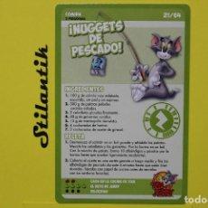 Trading Cards: RECETA 21 - NUGGETS DE PESCADO - CARTA DEL ÁLBUM TOM AND JERRY LIBRO DE RECETAS - HIPERCOR 2017. Lote 248618035