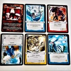 Trading Cards: MONSUNO 5 TARJETAS + 1 COMBATE DE GIGANTES DRAGONES. Lote 249580780