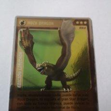 Trading Cards: CR366. TRADING CARDS. INVIZIMALS. EDICIÓN LIMITADA. ROCK DRAGON. PANINI 2009 2013. X10. Lote 252034290