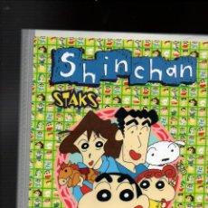 Trading Cards: ALBUM SHIN CHAN STAKS. CHECK LIST. CONTIENE 143 STAKS. PANINI ESPAÑA. MEGA PUZZLES SHINCHAN. Lote 254259350