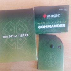 Trading Cards: CONTADOR, CAHA Y INSTRUCCIONES. MAGIC THE GATHERING. COMANDER. IRA DE LA TIERRA. #CAJAMTG0001. Lote 257580935