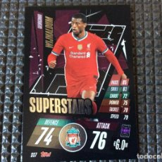 Trading Cards: S37 SUPERSTARS TOPPS 2020 2021 MATCH ATTAX CHAMPIONS LEAGUE- WIJNALDUM -LIVERPOOL. Lote 261631795
