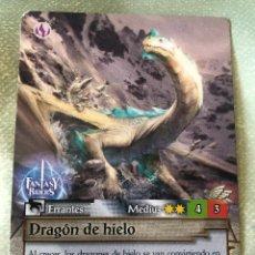 Trading Cards: TRADING CARD FANTASY RIDERS DE PANINI. DRAGÓN DE HIELO, CROMO Nº 326. MUY BUEN ESTADO.. Lote 263014670