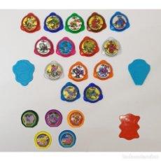 Trading Cards: LOTE DE 19 KRAKS - POKEMON - INVIZIMALS Y 3 LANZADORES PANINI MATUTANO CHEETOS - TAZOS. Lote 263166020