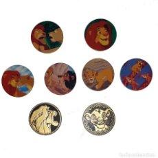 Trading Cards: LOTE 2 MASTER TAZO Y 6 TAZOS PANINI CAPS TAZO CAP POGS EL REY LEON THE LION KING. Lote 263167185