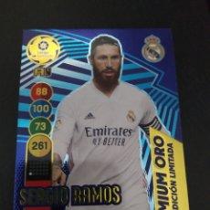 Trading Cards: SERGIO RAMOS PREMIUM ORO 2021. Lote 268437424