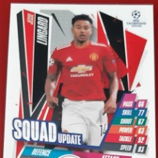 Trading Cards: CARD TOPPS MATCH ATTAX CHAMPIONS LEAGUE EXTRA JESSE LINGARD MANCHESTER UNITED SQUAD UPDATE. Lote 271603933