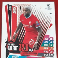Trading Cards: CARD TOPPS MATCH ATTAX CHAMPIONS LEAGUE DIVOCK ORIGI LIVERPOOL TOP SPEED TALENT. Lote 271604018