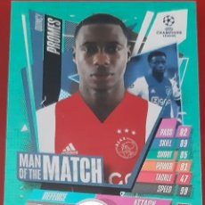 Trading Cards: CARD TOPPS MATCH ATTAX CHAMPIONS LEAGUE QUINCY PROMES AJAX AMSTERDAM MAN OF THE MATCH. Lote 271604133