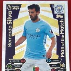Trading Cards: CARD TOPPS MATCH ATTAX PREMIER LEAGUE BERNARDO SILVA MAN OF THE MATCH MANCHESTER CITY. Lote 271607773
