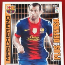 Trading Cards: CARD PANINI ADRENALYN XL MASCHERANO PLUS DEFENSA BARCELONA. Lote 271609833
