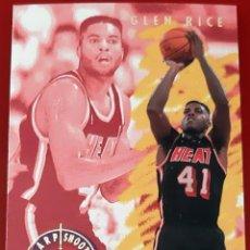 Trading Cards: CARD FLEER NBA 1993-1994 GLEN RICE MIAMI HEAT SHARP SHOOTER. Lote 271614563