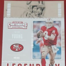 Trading Cards: CARD PANINI CONTENDERS FOOTBALL 2020 STEVE YOUNG SAN FRANCISCO 49ERS LEGENDARY. Lote 271616298