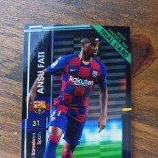 Trading Cards: ANSU FATI WCCF FOOTISTA 2021 TRIAL CARD JAPONESA PANINI JAPAN FC BARCELONA. Lote 273737868